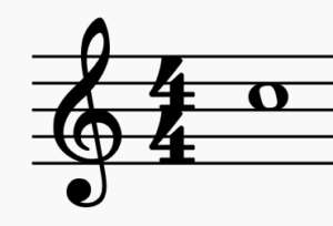 C5 on the treble clef for guitar.