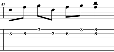 How to use a double stop in the G minor pentatonic scale on electric guitar.