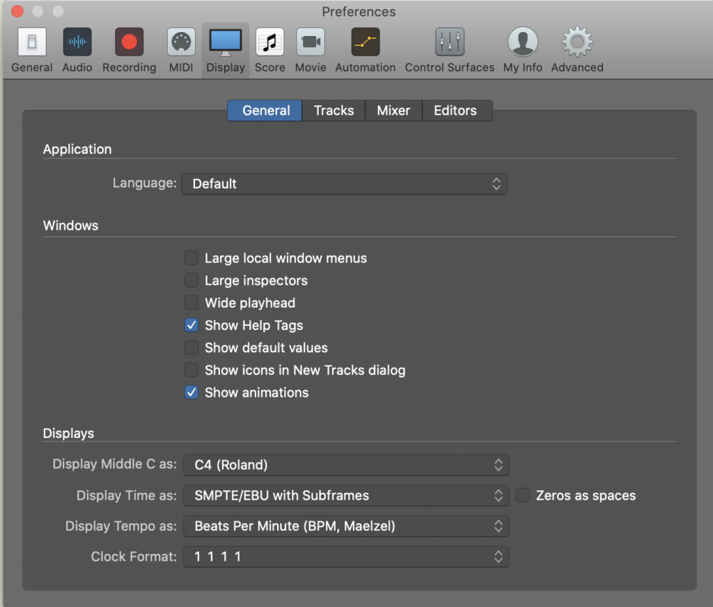How to change middle C to C4 on Logic Pro, Step 4
